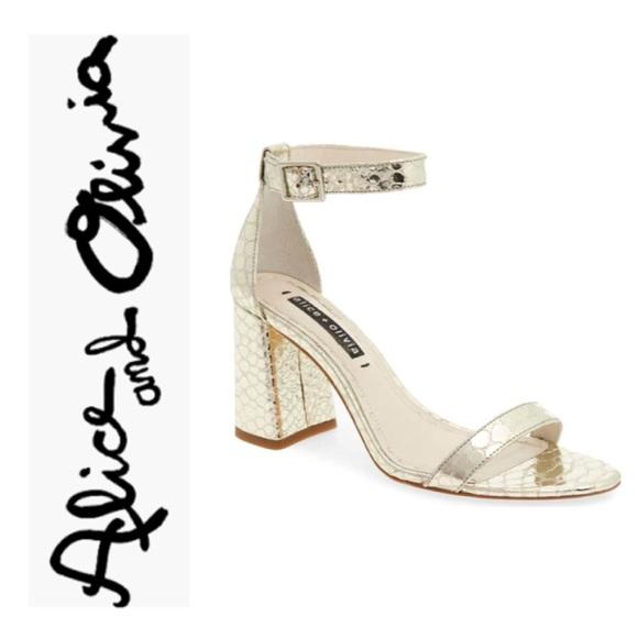 413ce5dab19a Alice + Olivia Shoes | Alice Olivia Lillian Pale Gold Heeled Shoe ...